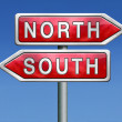 North or south — Stock Photo #28856861