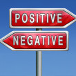 Positive or negative — Stock Photo