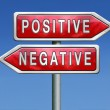 Stock Photo: Positive or negative
