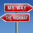 My way or not at all — Stock Photo #28857517
