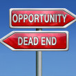 Opportunity or dead end — Stock Photo #28857653