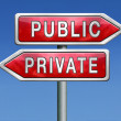 Private or public — Stock Photo
