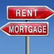 Stock Photo: Mortage or renting