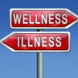 Stock Photo: Wellness or illness