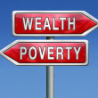 Wealth or poverty — Stock Photo
