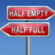 Постер, плакат: Half empty or full