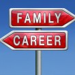 Family or career — Foto de Stock