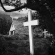 Old Iceland church and cemetery — Stock Photo #28859805