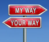 Your or my way — Stock Photo