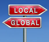 Global or local — Stock Photo