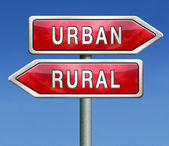 Urban or rural — Stock Photo