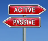 Active or passive — Stock Photo
