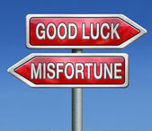 Misfortune or good luck — Stock Photo