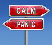 Calm down dont panic — Stock Photo