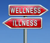 Wellness or illness — Stock Photo
