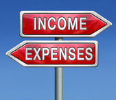 Income and expenses — Stock Photo