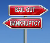 Bailout bankruptcy — Stock Photo