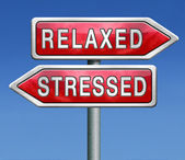 Stressed or relaxed — Stock Photo