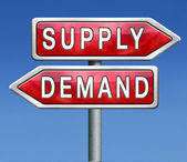 Supply and demand — Stock Photo