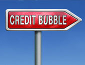 Credit bubble — Stock Photo