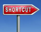 Shortcut short route cut distance fast way bypass — Stock Photo