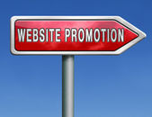 Website promotion — Stock fotografie