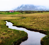Green Iceland landscape Snaefellsnes — Stock Photo