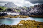 Iceland rocky coast landscape — Stock Photo