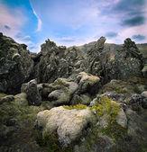 火山玄武岩熔岩景观 — 图库照片