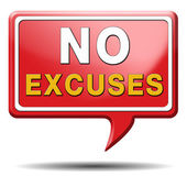 No excuses sign — Stock Photo