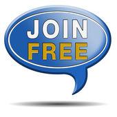 Join free text balloon — Stock Photo