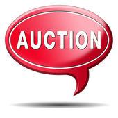 Auction icon — Stock Photo