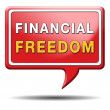 Financial freedom sign — Stock Photo