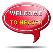 Welcome to heaven — 图库照片