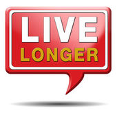 Live longer red text balloon — Stock Photo