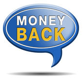 Moeny back guaranteed sign — Стоковое фото