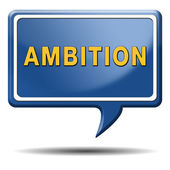 Ambition word in blue speech bubble — Stock Photo
