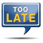 Too late — Stock Photo #33666627