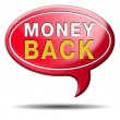 Moeny back guaranteed sign — Stockfoto