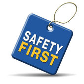 Safety first — Stock Photo