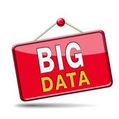 大きなデータ アイコン — ストック写真