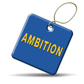 Ambition sign — Стоковое фото