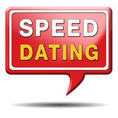 Speed dating sign — Stock Photo