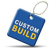 Custom build label — Stock Photo