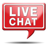 Live chat icon — Stock Photo