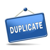 Duplicate sign — Stockfoto