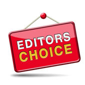 Editors choice sign — 图库照片