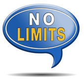 No limits sign — Stock Photo