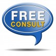 Stock Photo: Free consult icon