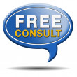 Free consult icon — Stock Photo #33777463